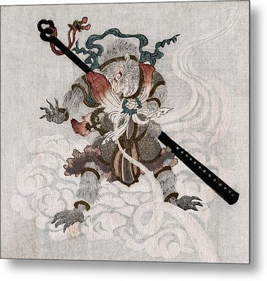 Son Goku, The Monkey King. Japanese Metal Print by Everett