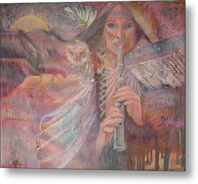 Song Of Our Sacred Dreaming Metal Print by Pamela Mccabe