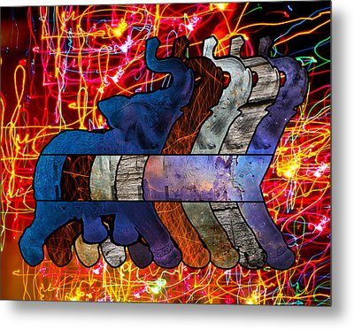 Song Of The Elephants Metal Print by Kyle Willis