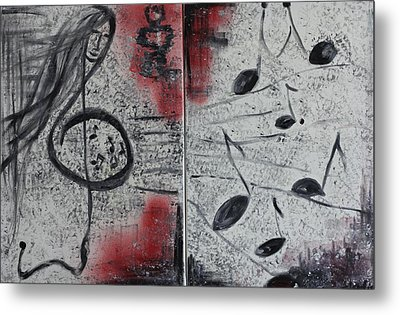 Metal Print featuring the painting Song by Sladjana Lazarevic