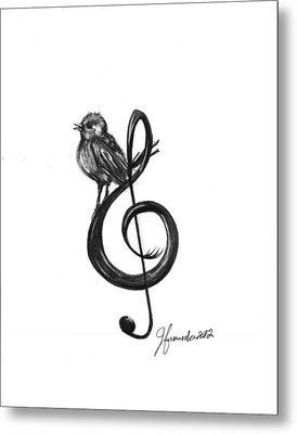 Songbird  Metal Print by J Ferwerda