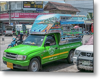 Metal Print featuring the photograph Songthaew Minibus by Antony McAulay