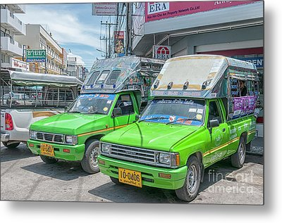 Metal Print featuring the photograph Songthaew Taxi by Antony McAulay