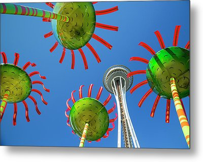 Metal Print featuring the photograph Sonic Bloom In Seattle Center by Adam Romanowicz