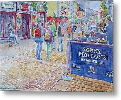 Sonnys High Street Galway Metal Print by Tomas OMaoldomhnaigh