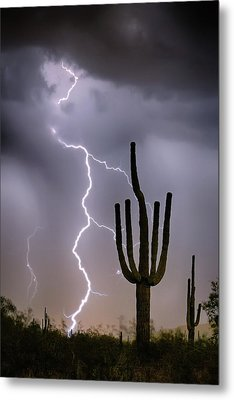 Metal Print featuring the photograph Sonoran Desert Monsoon Storming by James BO Insogna