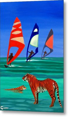 Tigers Sons Of The Sun Metal Print