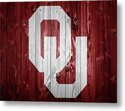 Sooners Barn Door Metal Print