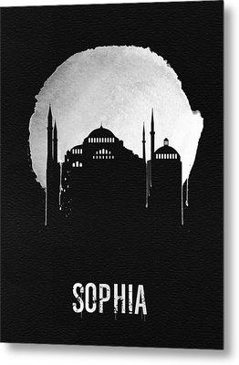 Sophia Landmark Black Metal Print