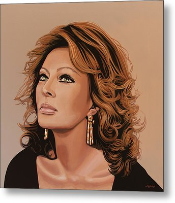 Sophia Loren 3 Metal Print by Paul Meijering