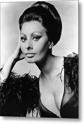 Sophia Loren, In Costume For Arabesque Metal Print by Everett