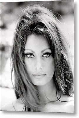 Sophia Loren Metal Print by Georgia Fowler