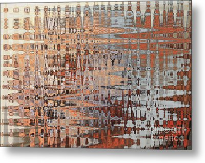 Sophisticated - Abstract Art Metal Print by Carol Groenen