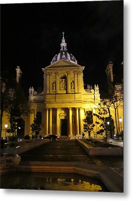 Metal Print featuring the photograph Sorbonne Night by Christopher Kirby
