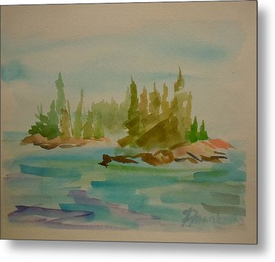 Metal Print featuring the painting Sorrento Islands by Francine Frank