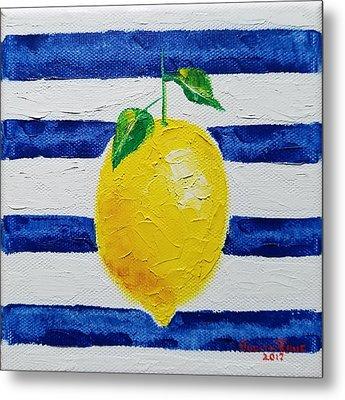 Metal Print featuring the painting Sorrento Lemon by Judith Rhue
