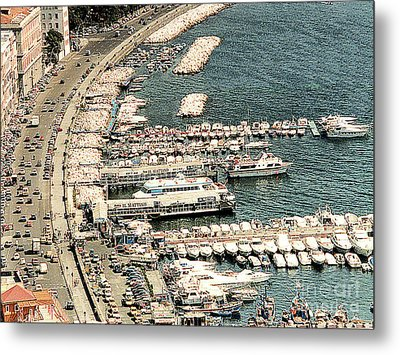 Metal Print featuring the photograph Sorrento's Harbor, Italy by Merton Allen