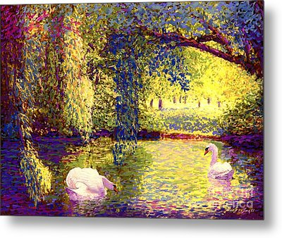 Swans, Soul Mates Metal Print by Jane Small