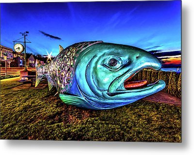 Soul Salmon During Blue Hour Metal Print