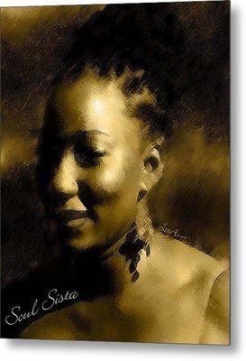 Soul Sista Metal Print by LeeAnn Alexander