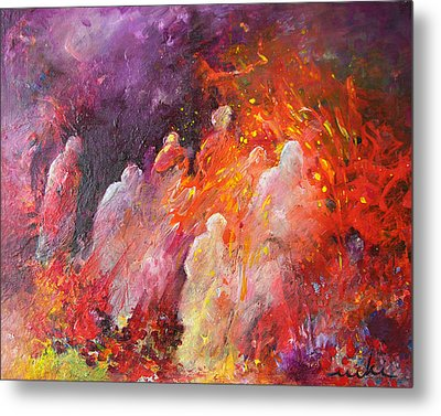 Souls In Hell Metal Print by Miki De Goodaboom