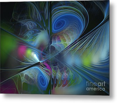 Metal Print featuring the digital art Sound And Smoke by Karin Kuhlmann