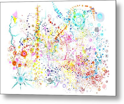 Sounding The Void Metal Print by Regina Valluzzi