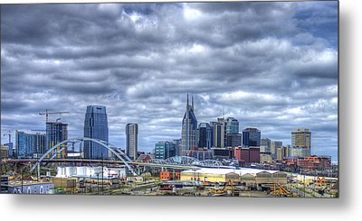 Sounds Like Country Music Nashville Tennessee Music City Art Metal Print