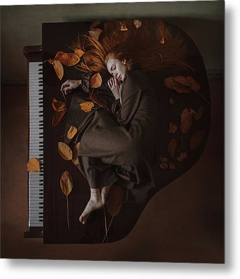 Sounds Of Autumn Metal Print by Anka Zhuravleva