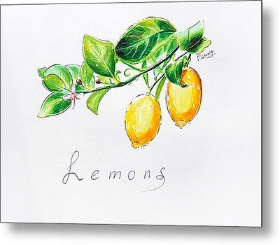 Sour Lemons Metal Print by Viktoriya Lavtsevich