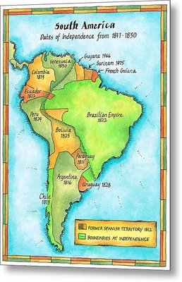 South American Independence Metal Print