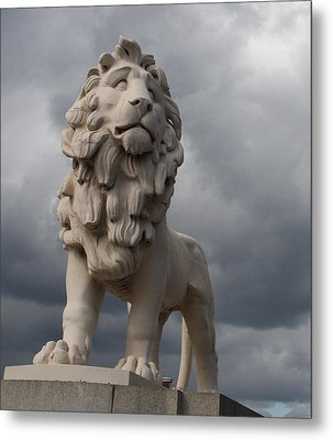 South Bank Lion.  Metal Print