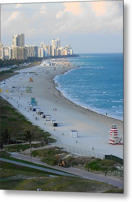 South Beach At Its Best Metal Print by Margaret Bobb