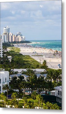 South Beach Late Afternoon Metal Print by Ed Gleichman