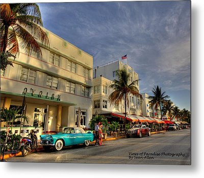 South Beach Park Central Hotel Metal Print