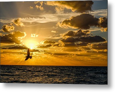 South Beach Sunrise 3 Metal Print
