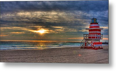 South Beach Sunrise Metal Print