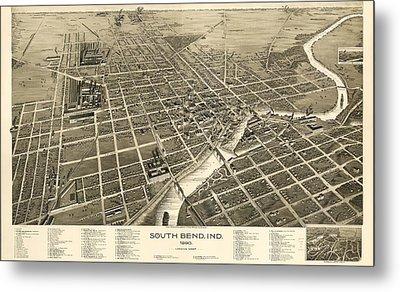 South Bend Indiana 1890 Metal Print