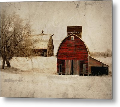 South Dakota Corn Crib Metal Print by Julie Hamilton