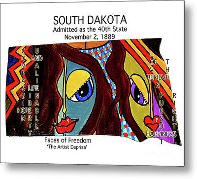 South Dakota Metal Print