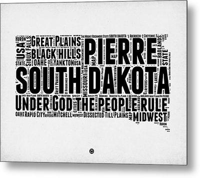 South Dakota Word Cloud 1 Metal Print by Naxart Studio