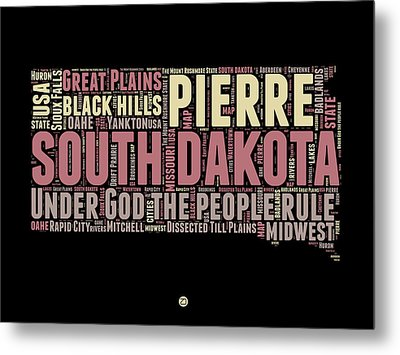 South Dakota Word Cloud 2 Metal Print