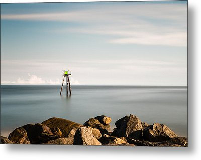 South Jetty Marker Metal Print