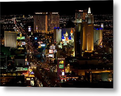 South Las Vegas Strip Metal Print by James Marvin Phelps