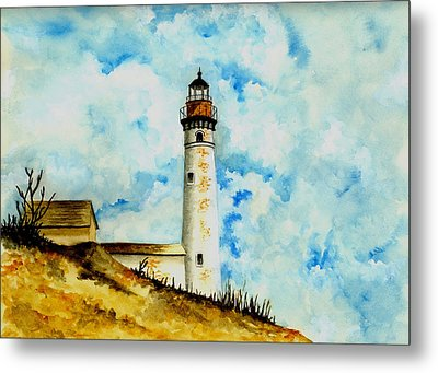 South Manitou Island Lighthouse Metal Print by Michael Vigliotti