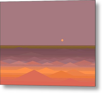 Metal Print featuring the digital art South Sea Abstract by Val Arie