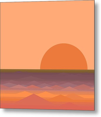 Metal Print featuring the digital art South Sea Sunrise by Val Arie