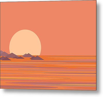 Metal Print featuring the digital art South Sea by Val Arie