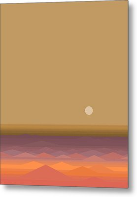 Metal Print featuring the digital art South Seas Sunrise - Vertical by Val Arie