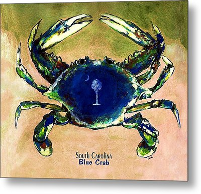 Southcarolina Blue Crab Metal Print by Eddie Glass